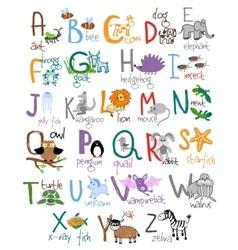 Zoo alphabet vector image vector image