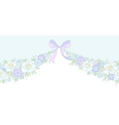 Floral wedding garland vector