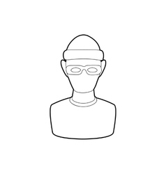 Theft icon in outline style vector