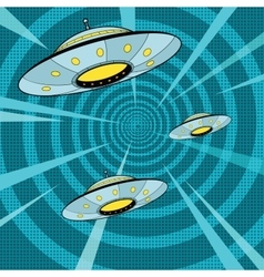 Space attack ufo vector