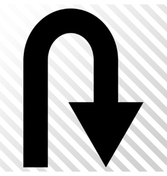 U turn icon vector