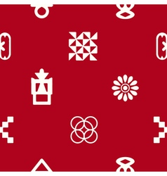 Seamless pattern with adinkra symbols vector
