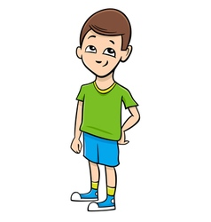 School boy cartoon vector