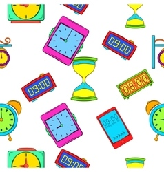 Watch pattern cartoon style vector image
