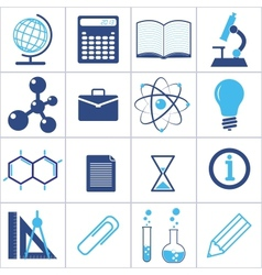 icons of a science and education vector image