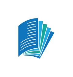 Paper slide logo design vector