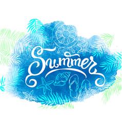 Summer banner watercolor background vector