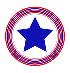 american symbol blue star rings simple vector image