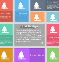 Christmas tree icon sign set of multicolored vector