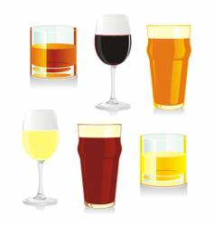 isolated glasses vector image