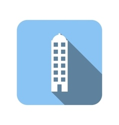 Unique house flat icon vector