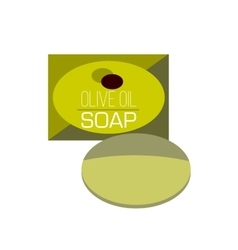 Bar of soap flat icon vector