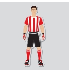 Football soccer player vector