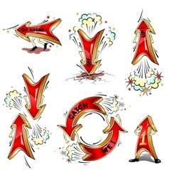 Cartoon moving arrows vector image