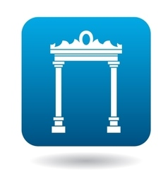 Eastern arch icon simple style vector