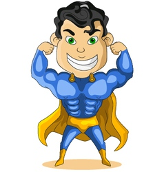 strong super hero vector image