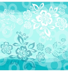Abstract flower background vector image vector image