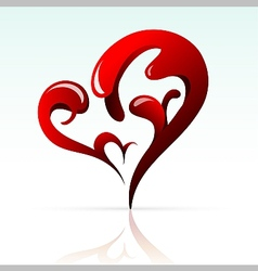 Artistic heart shape as design element vector image vector image