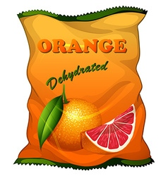 Bag of dehydrated orange vector