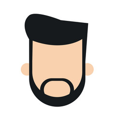 Bearded man faceless people character image vector