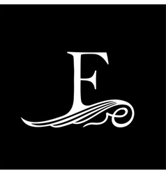 Capital Letter F for Monograms Emblems and Logos vector image vector image