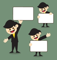 Cartoon Business Man vector image