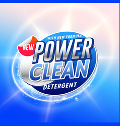 Creative laundry detergent product pacgaging vector