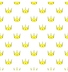 Crown pattern cartoon style vector