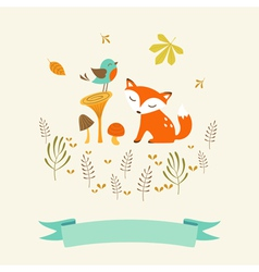 Cute autumn card vector image vector image