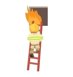 Fireman icon cartoon style vector
