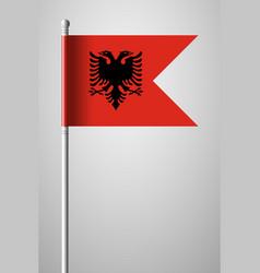 Flag of albania national flag on flagpole vector