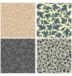 Flor seamless set vector