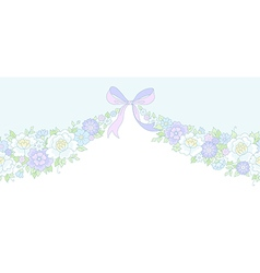 Floral wedding garland vector