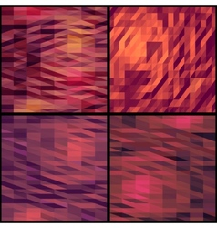 Geometric triangle patterns set vector image vector image