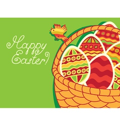 green Easter vector image