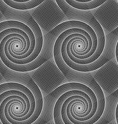 Grey abstract spiral design repeat pattern vector