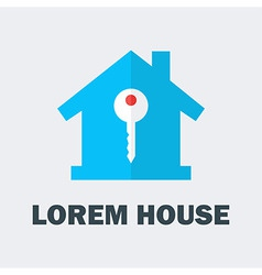 House with key logo vector
