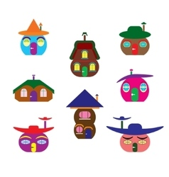Icons of houses similar to pumpkin vector