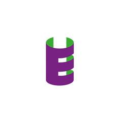 letter e logo design template elements paper vector image