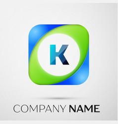 Letter k logo symbol in the colorful square vector