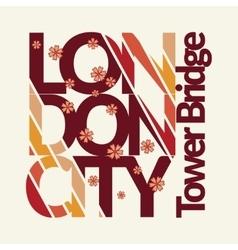 london t-shirt design vector image vector image