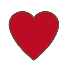 Red heart love romance feeeling symbol vector