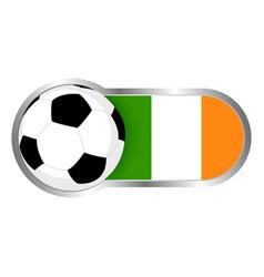 republic of ireland soccer icon vector image