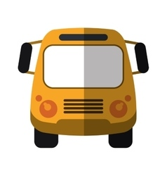 School bus student transport shadow vector