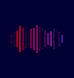 sound waves icon line icon with gradient vector image vector image