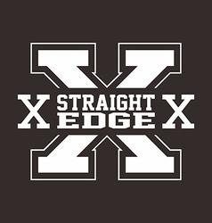 Straight edge hardcore sign vector