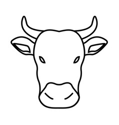 Thin line cow icon vector