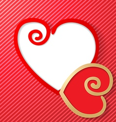 two heart vector image vector image