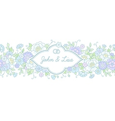 Floral wedding horizontal vector