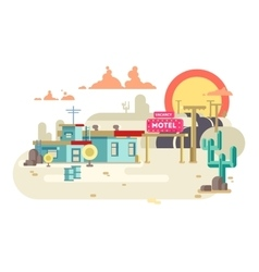 Motel flat design vector